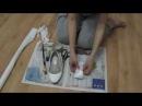 Реставрация обуви, обклеивание балеток тканью мастер-класс