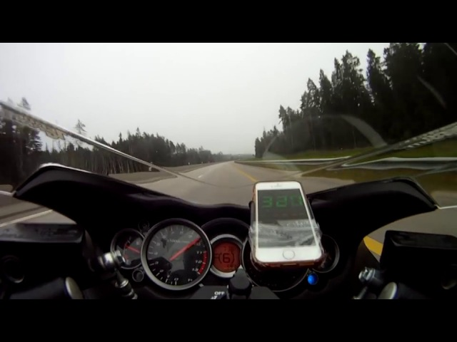 Hayabusa top speed GPS 333,6 km/h