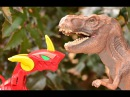 ДИНОЗАВРЫ😈 vs НЕЧТО👹 vs ОХОТНИКИ 🔫 3 СЕРИЯ. Про динозавров для детей. Театр игру...