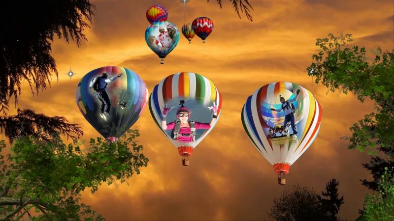 Я улетаю на большом воздушном шаре Куда не знаю