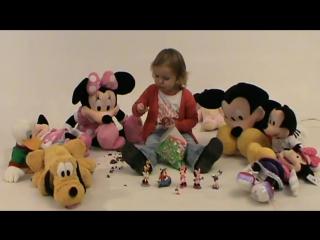 Мини Маус огромное яйцо с сюрпризом открываем игрушки Minnie Mouse énorme oeuf avec une surprise