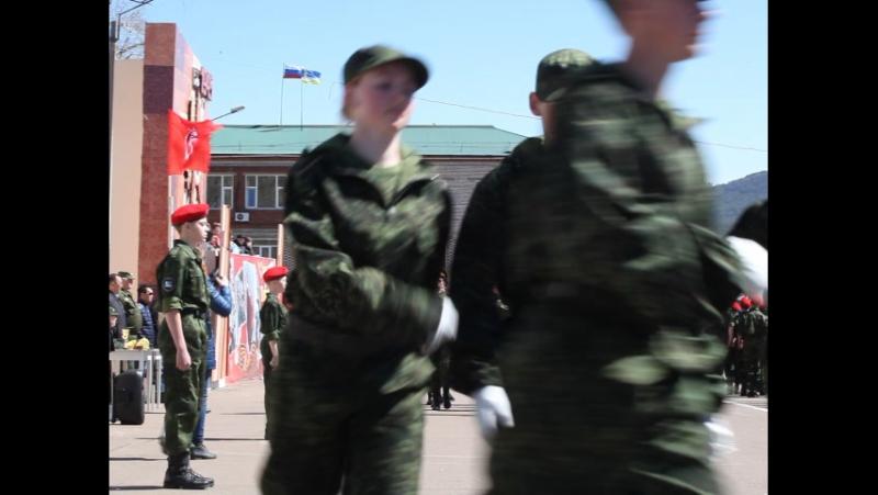 Смотр строя и песни среди ВПК Заиграевского района. Фрагмент 2.