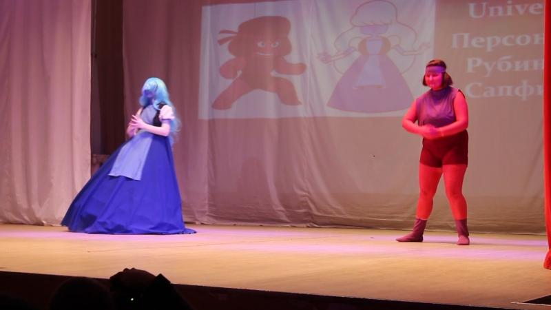 Косбэнд Don't stop - фэндом Steven Universe - персонажи Рубин и Сапфир