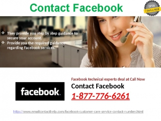 Call on Facebook Customer Service @1-877-776-6261 : A blend of excellence promptness