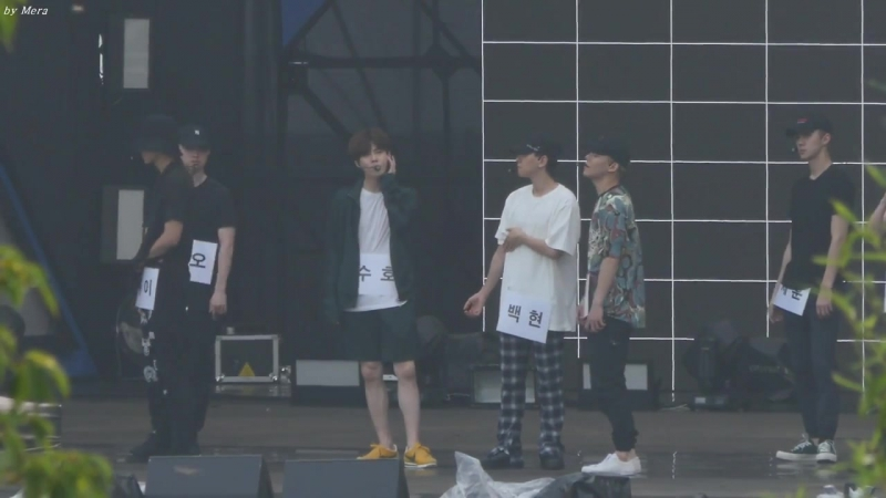170724 EXO - The Eve x Heaven @ Show Music Core 2017 Ulsan Summer Festival Rehearsal