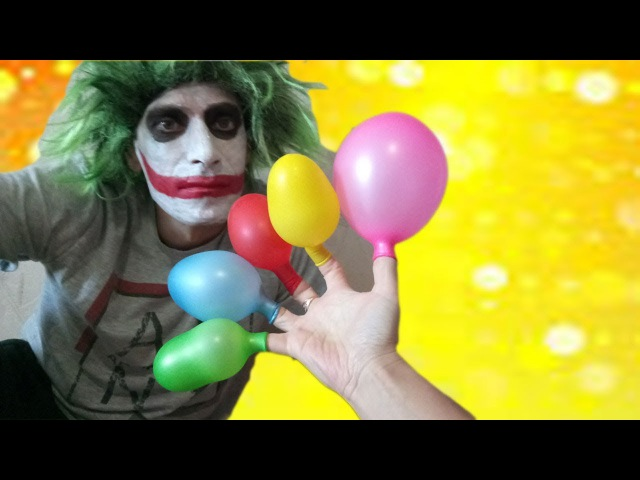 Babies crying with balloons and Daddy finger family nursery song little babies