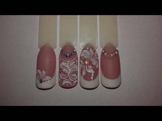 Свадебный дизайн ногтей к 14 февраля.