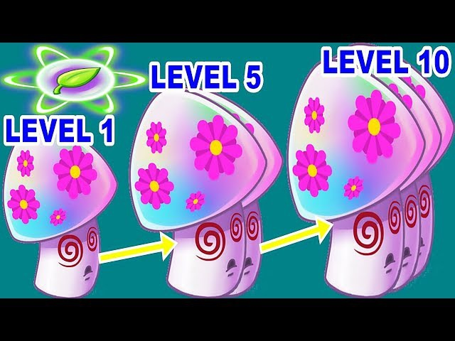 Hypno-shroom Pvz 2 Level 1-5-10 Power-up in Plants vs. Zombies 2: Gameplay 2017