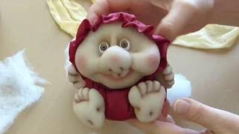 Кукла неваляшка из колготок Кукла из капрона своими руками Doll from stocking Roly poly doll