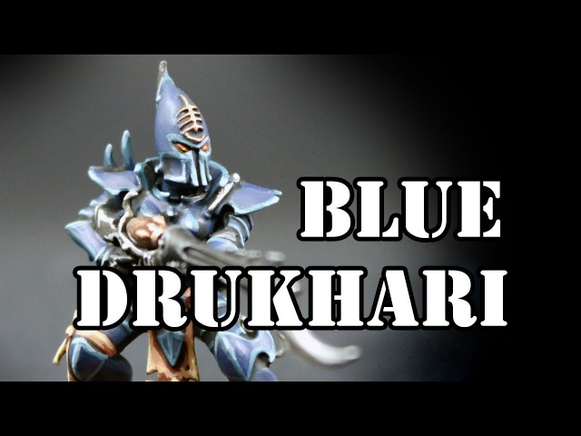 How to paint Blue Dark Eldar Kabalite Warriors (Drukhari)