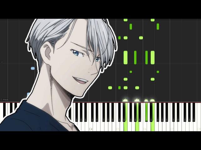 Yuri On Ice Opening - History Maker (Piano Tutorial)