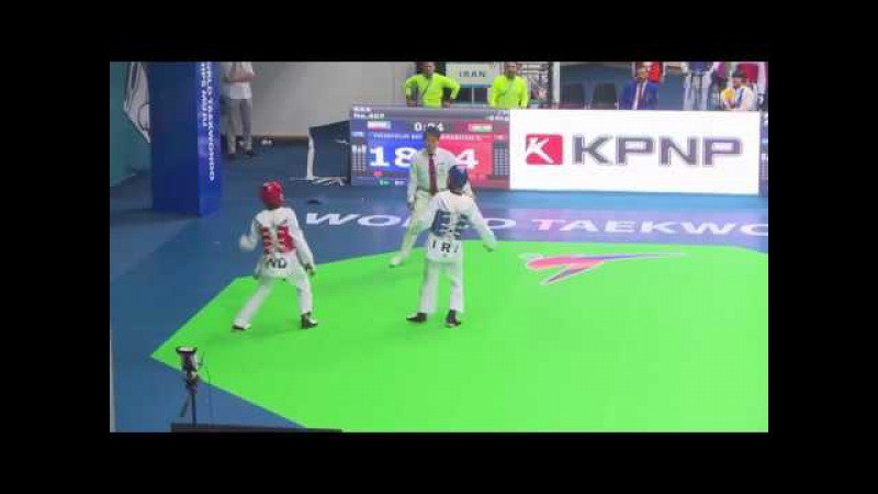 India vs Iran men -54 kg (R64) WTF world Taekwondo championship 2017 muju