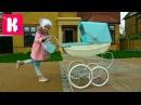 Королевская коляска для куклы Baby Born Катя купила коляску для Беби борн Эмили Silver ...
