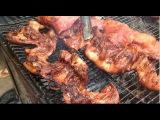 Khmer Foods - Asian Phnom Penh Street Food, grilled pork, grilled fish, chicken grilled, rice cake