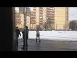 Троллейбус Санкт-Петербурга ЗиУ 683 БМ-1 б. 1102 по маршруту №45 (24.02.2017, ч.2)