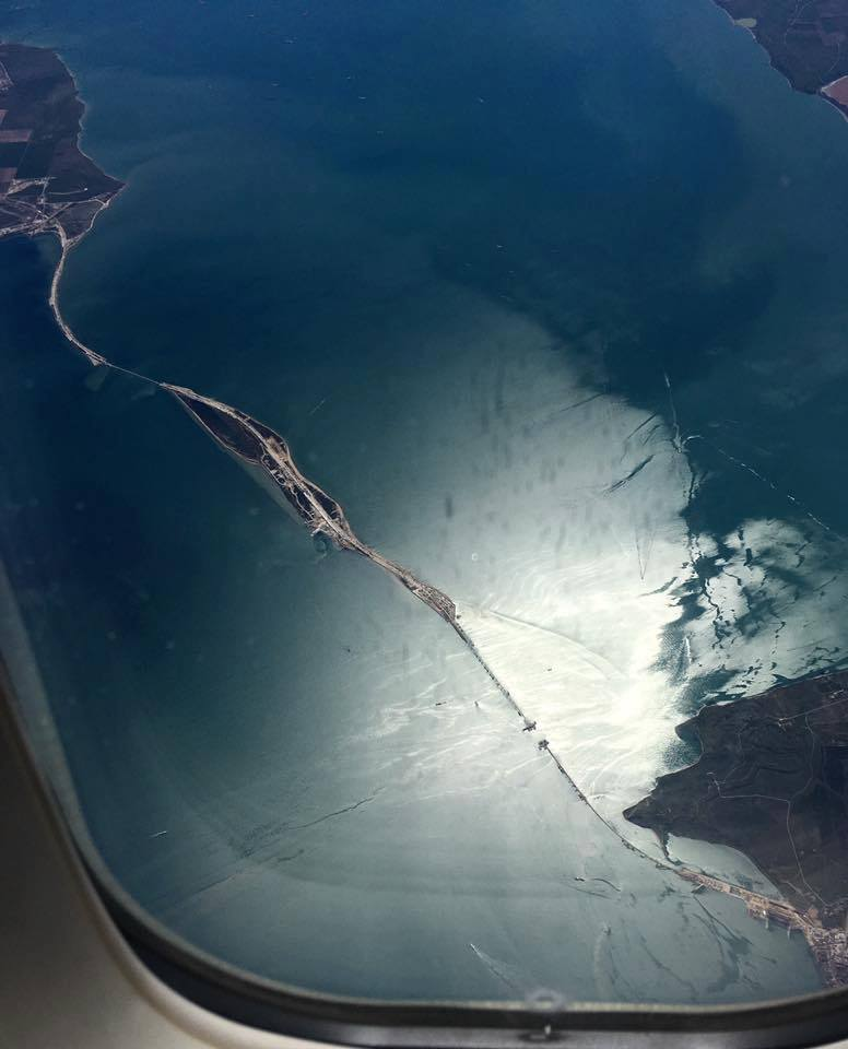 Строительство Керченского моста. Апрель 2017 года
