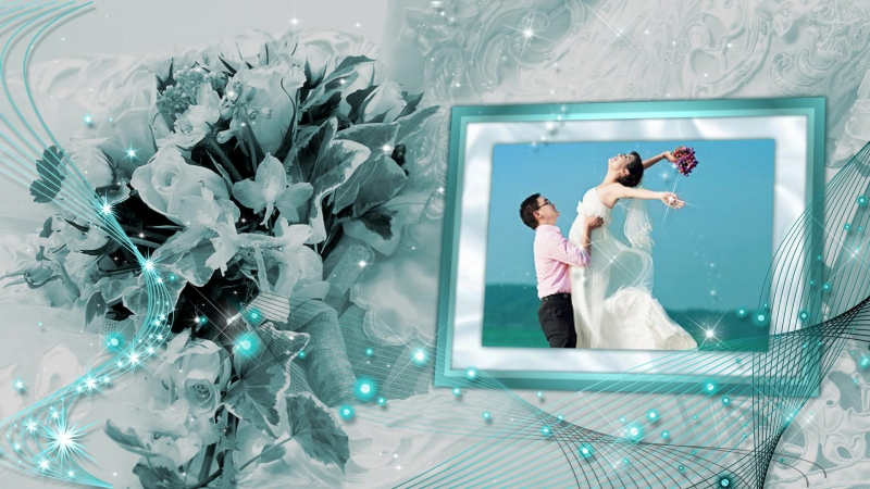Слайд-шоу - Наша свадьба бирюза