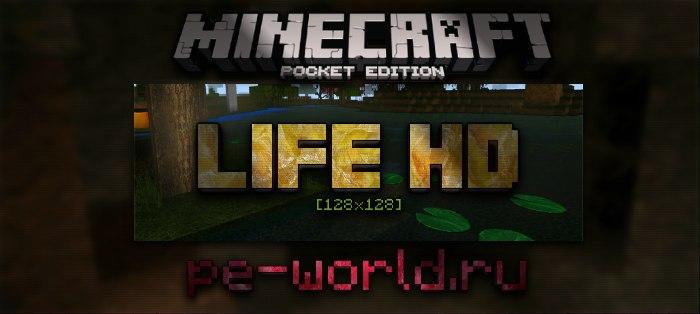 Превью для «Life HD[128x128]   Minecraft Pocket Edition 0.16.0»