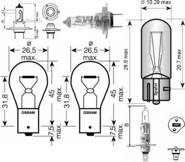 Лампа накаливания, основная фара; Лампа накаливания для AUDI ALLROAD (4BH, C5)