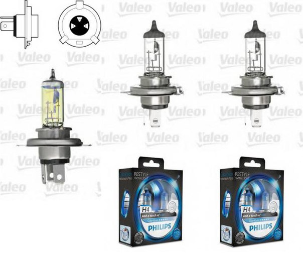 Лампа накаливания, фара дальнего света; Лампа накаливания, противотуманная фара для AUDI QUATTRO (85)