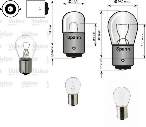 Лампа накаливания, фонарь сигнала тормож./ задний габ. огонь для AUDI QUATTRO (85)