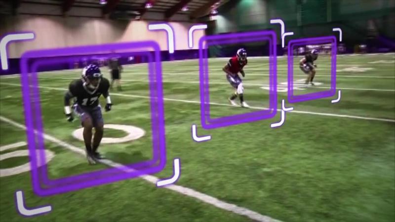 Northwestern Wildcats shuffle pedal angle break drill Defensive backs