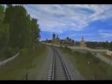 Через Козельск на поезде. Trainz simulator.