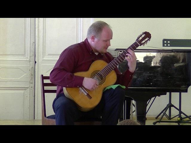 A.Barrios - Canción de la Hilandera. G.Raspopov - guitar.