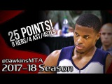 Dennis Smith Jr. Full Highlights vs Suns 2017.07.09 Summer League - 25 Pts, 8 Rebs, 4 Ast, 4 Stls!
