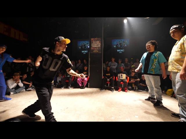 VOVAN FUNKY J vs Animal Funk(JUN KEITA) BEST8 LOCK WDC 2017 FINAL WORLD DANCE COLOSSEUM Day1