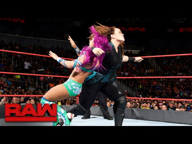 Sasha Banks vs Nia Jax Raw June 19 2017
