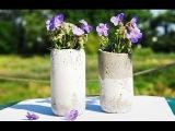 Садовые вазы, цветочные горшки из цемента своими руками  Floral vases made of concrete