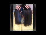 Скрытое окрашивание волос с синими прядями . Виктория Гончарова
