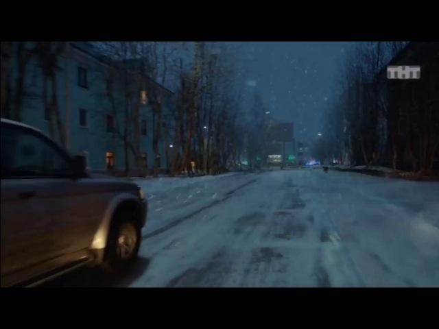 Крабы на снегу в России)