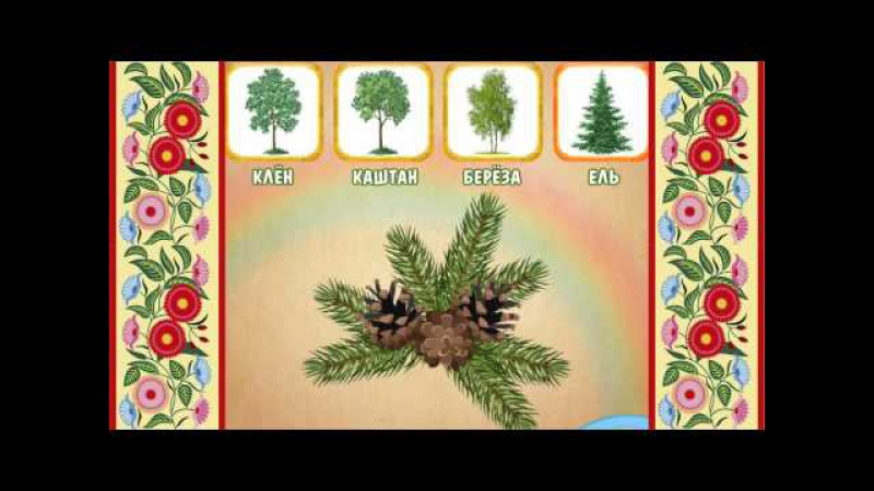 Развивающий мультик - Деревья