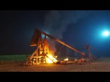 Medieval Trebuchet In Real Action - On The Set Of Netflix's Tv Series 'Marco Polo'