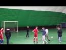 конкурс на точность удара в матче Слава 12-3 КМТК