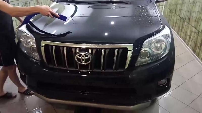 Пример 3х фазной мойки с турбосушкой без контакта тряпки на лакокрасочное покрытие автомобиля по системе koch chemie