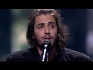 Salvador Sobral - Amar Pelos Dois (Portugal) LIVE at the first Semi-Final  Португалия финал Евровидение 2017 победитель