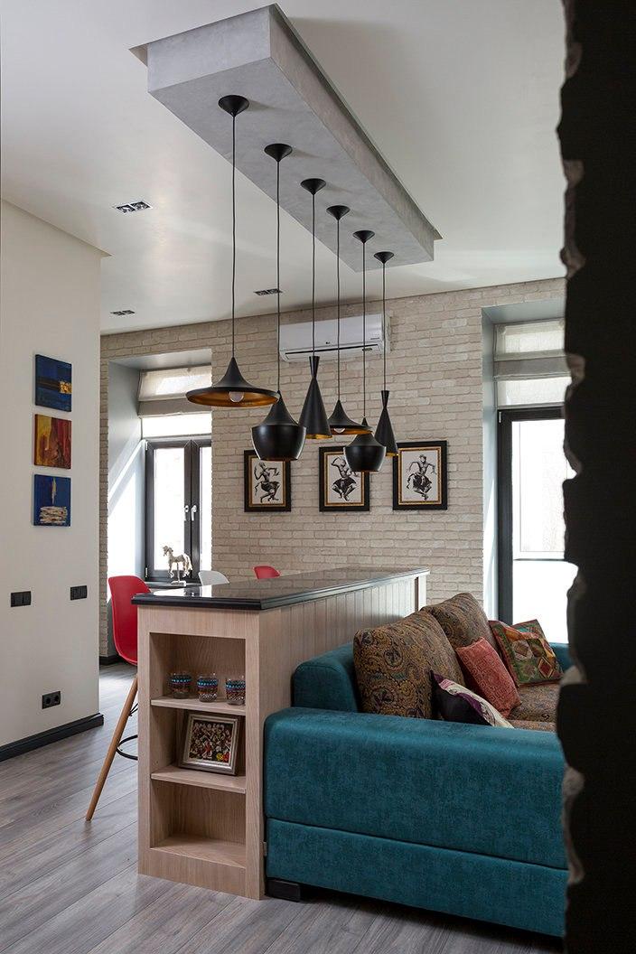 Проект студии к 43 м из однокомнатной квартиры.