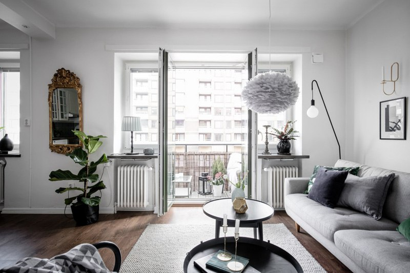 Скандинавский интерьер: квартира 45 м.