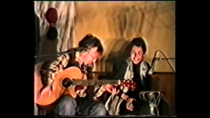 Юлия Теуникова и Александр Сорокин в клубе Третье Ухо Москва 29 03 2000 г