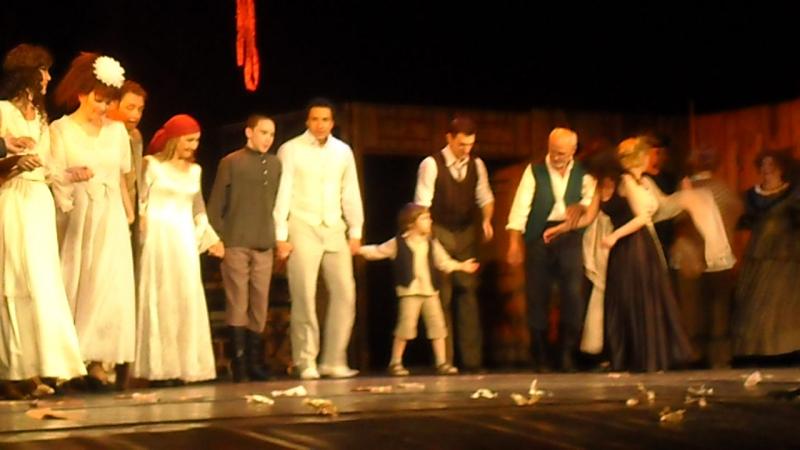 Одесса913, театр Ермоловой, выход на аплодисменты