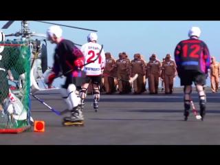 На палубе Адмирала Кузнецова прошел хоккейный матч Счёт -государственная тайна