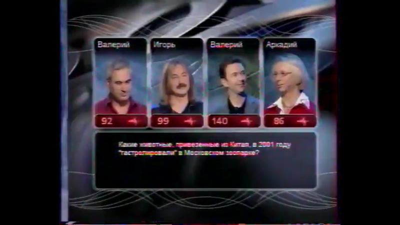 Валерий Меладзе в программе Слабое Звено 2001