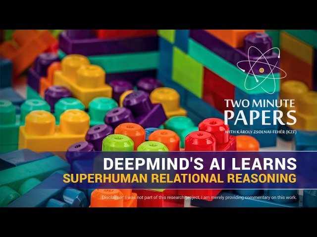 DeepMind's AI Learns Superhuman Relational Reasoning Two Minute Papers 168
