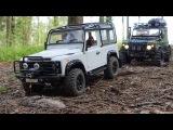 scale offroad adventures rock crawling rc land rover defender 90 #wildbrit vs rc defender 90