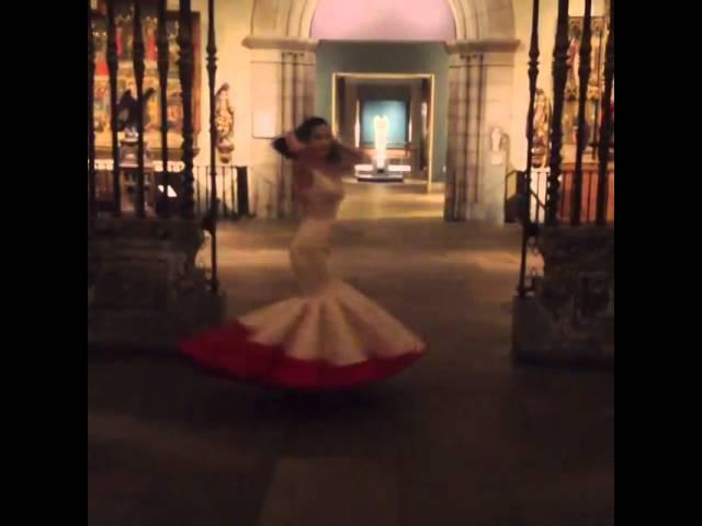 Dita von Teese in Zac Posen's dress