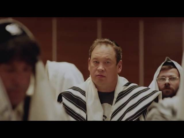 Слуцкий в рекламе еврейского центра толерантности.