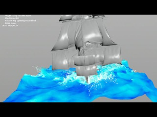 UPDATE: Houdini RnD: Ship into the storm - Flip Highres